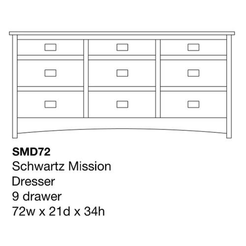 """Schwartz Mission 72"""" Dresser"""