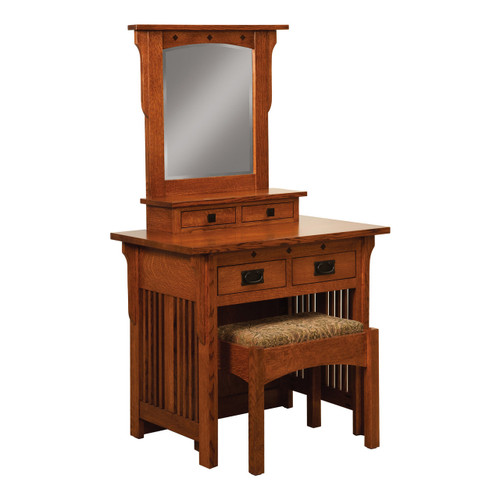 Schwartz Mission Dressing Table With Bench