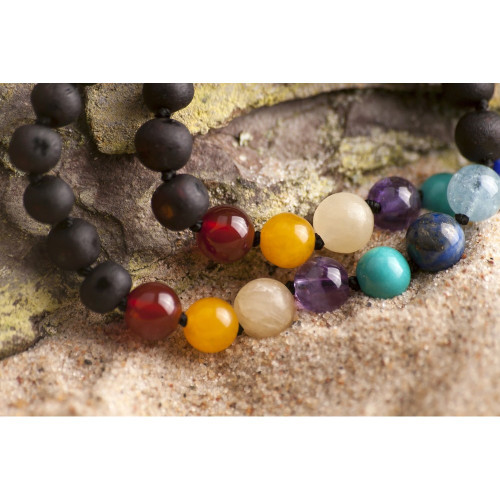 Child of the Sun AMBER TEETHING BRACELET - GEMSTONE - TOPAZ - SEMI PRECIOUS STONES