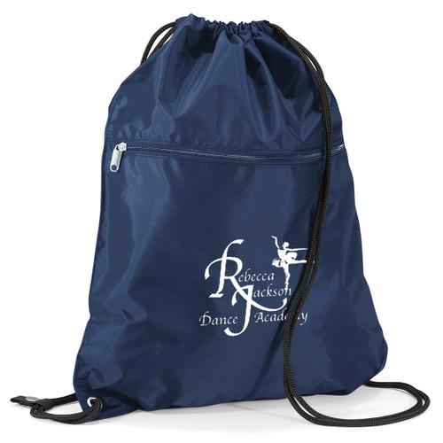 REBECCA JACKSON DANCE ACADEMY BRANDED PULL STRING BAG (Blue)