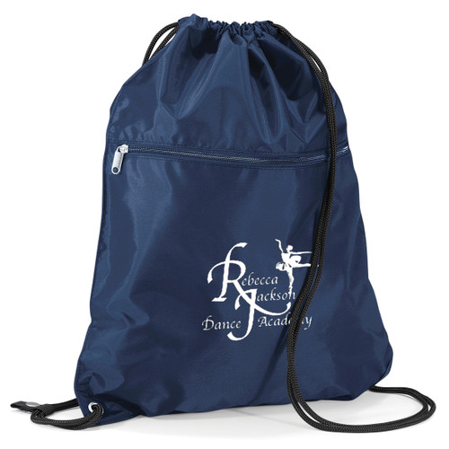REBECCA JACKSON DANCE ACADEMY BRANDED PULL STRING BAG (Blue)