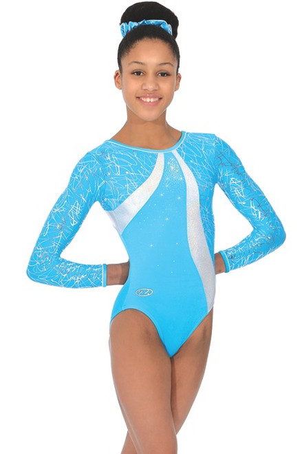 "The Zone "" Crystal"" Long Sleeve Gymnastics Leotard"