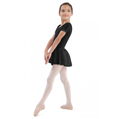 BLOCH 'TIFFANY' SHORT SLEEVED LEOTARD WITH CHIFFON SKIRT