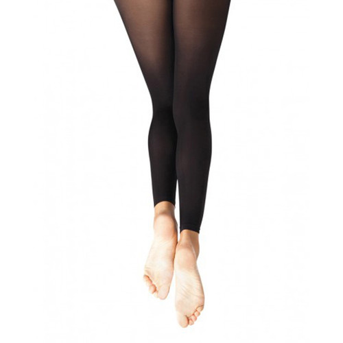 FLIPSIDE CAPEZIO BLACK FOOTLESS TIGHTS