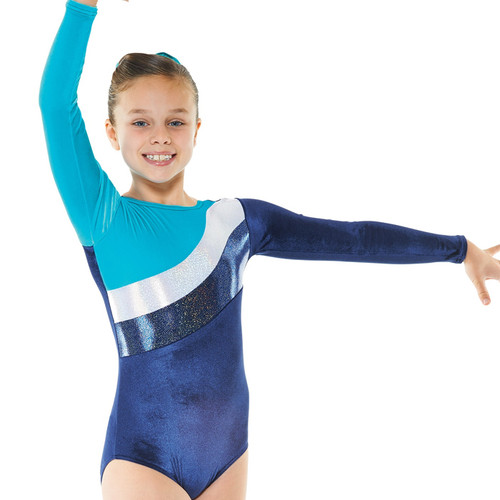 TAPPERS & POINTERS GYM/16 VELVET AND COSMIC SHINE LEOTARD