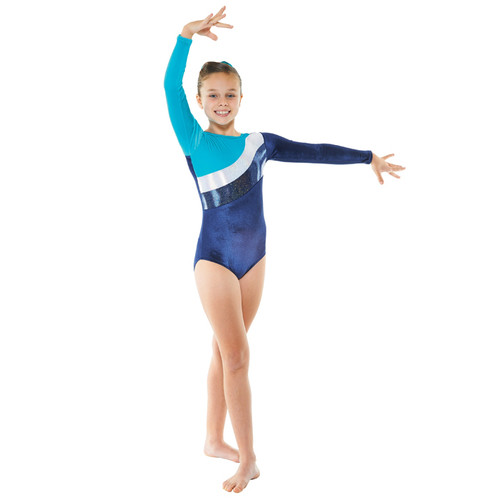 TAPPERS & POINTERS GYM/16 VELVET AND COSMIC SHINE LEOTARD Jr