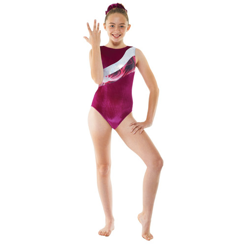 TAPPERS & POINTERS GYM/20 SMOOTH VELVET AND SOLARIS PRINT LEOTARD Jr