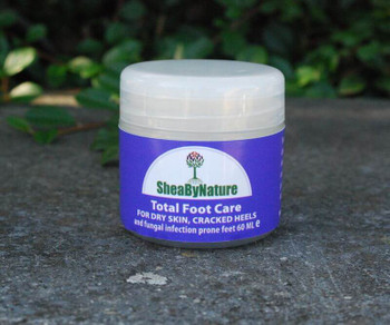 Healing and Moisturising Natural Shea Butter Foot Care Cream (60ml) for Very Dry Feet, Cracking Heels, Fungal Infections, Athlete's Foot, Odours