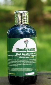 African Black Soap Body Wash Shower Gel with Lemongrass & Lemon (250ml). SLS-free, Detergent-free, 100% Natural, Suitable for Sensitive Skin