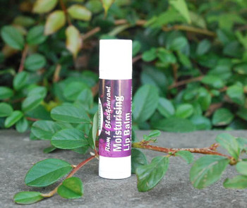 Nourishing and Protective Shea Butter Lip Balm, Blackcurrant and Rum Flavour, with Cocoa Butter and Vitamin E. Natural, Handmade, 4.5ml Tube