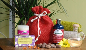 Natural Face and Body care products set for dry Skin with Face cream, Shea Butter soap, Black soap with Geranium,YlangYlang and Lavender