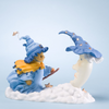 Cherished Teddies Witch and Moon Figurine - Back View