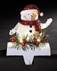 LED Snowman Christmas Stocking Holder