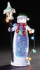 Snowman LED GlitterDome with Lamp