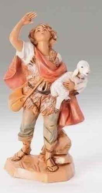 Fontanini Nativity Shepherd Figurine Micah- 5in Scale