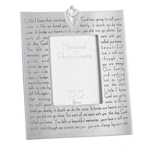Photo Frame with Memorial Verse