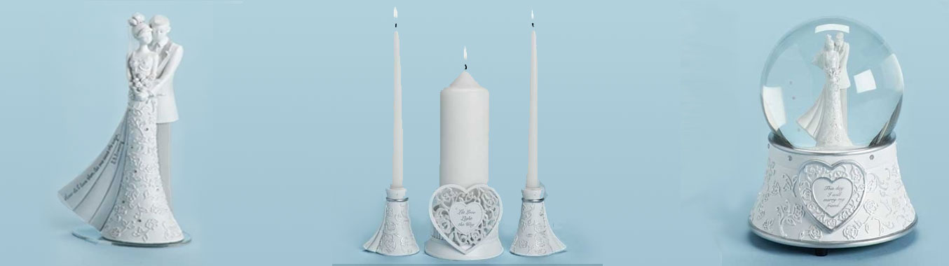 Wedding Cake Toppers, Unity Candles, Collectible Bridal Shower Gifts