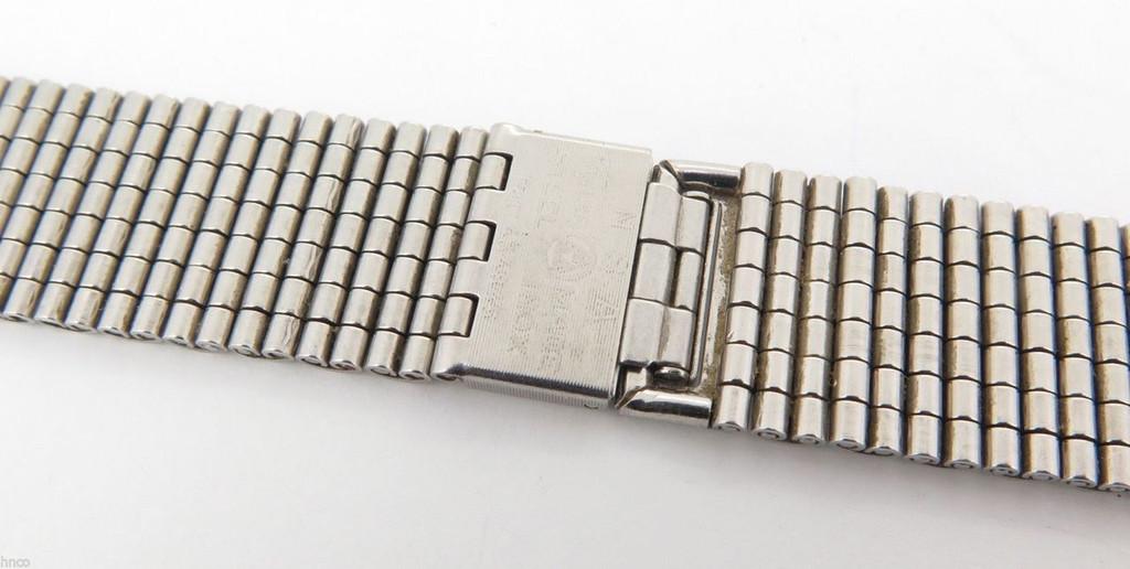 VINTAGE 18MM STEEL INOX NSA 7 row Bark type Heuer BRACELET