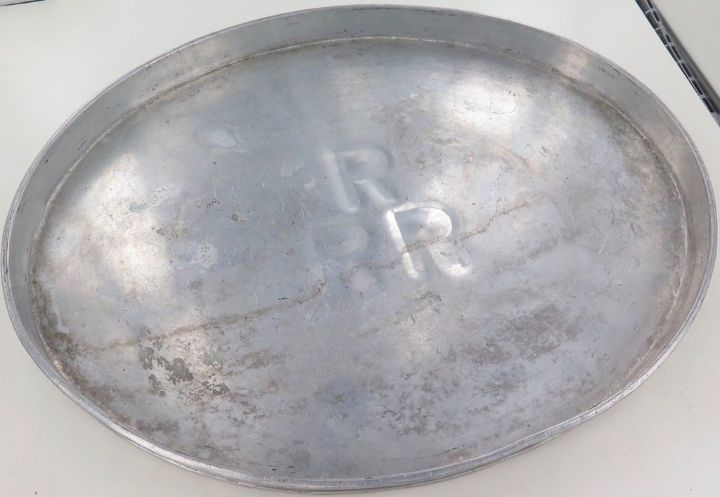 Huge / vintage RRR (Railway Refreshment Room metal tray. 46cm x 36cm x 3cm