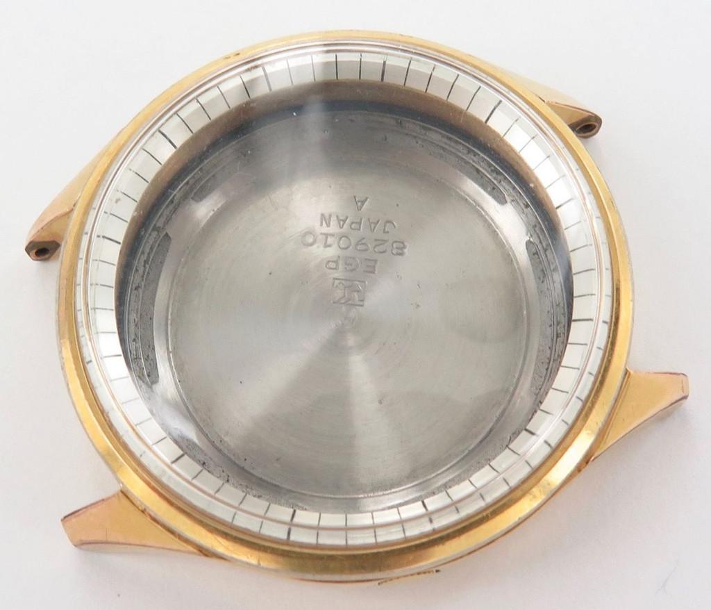 Rare vintage Seiko 829010 Sportsmatic Diashock case, crown & case back