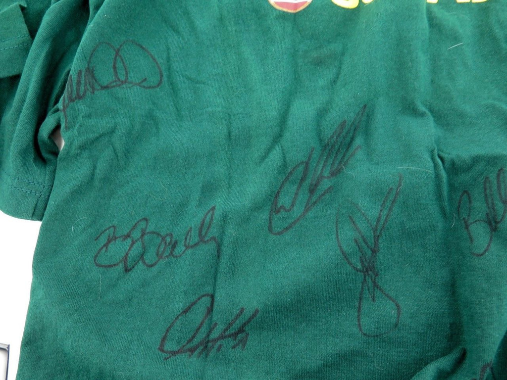 2015 Indigenous team signed t-shirt , 18 signatures in total with list of names
