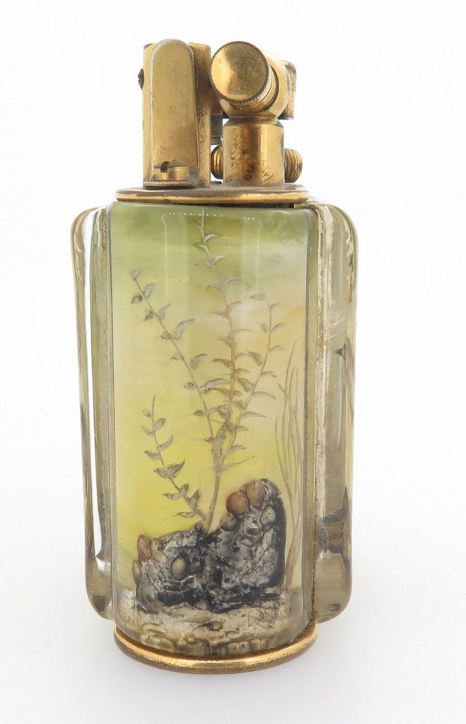Rare 1950s Alfred Dunhill Aquarium Table Lighter Lighter - Made in England
