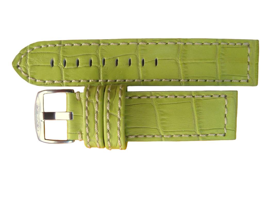 22MM GLYCINE LEATHER WHITE STITCHED STRAP & BUCKLE by glycine BRISBANE Harrington Vintage Watch Strap Woolloongabba