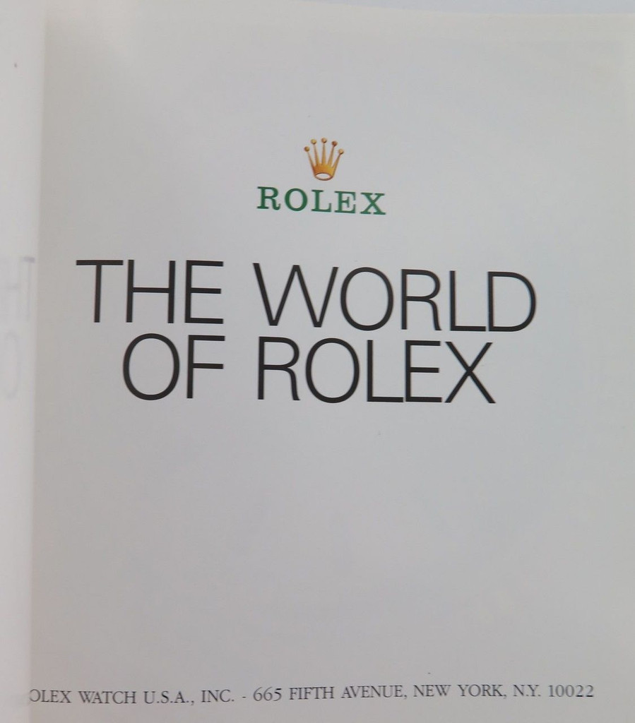 """EXCELLENT CONDITION 1995 ROLEX """"THE WORLD OF ROLEX"""" LARGE BOOKLET."""