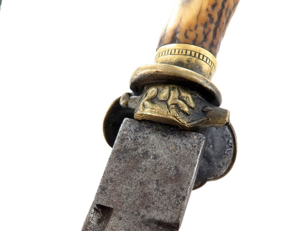 100% GENUINE / RARE EARLY TO MID 1800s PRE IMPERIAL GERMAN HUNTING SWORD.