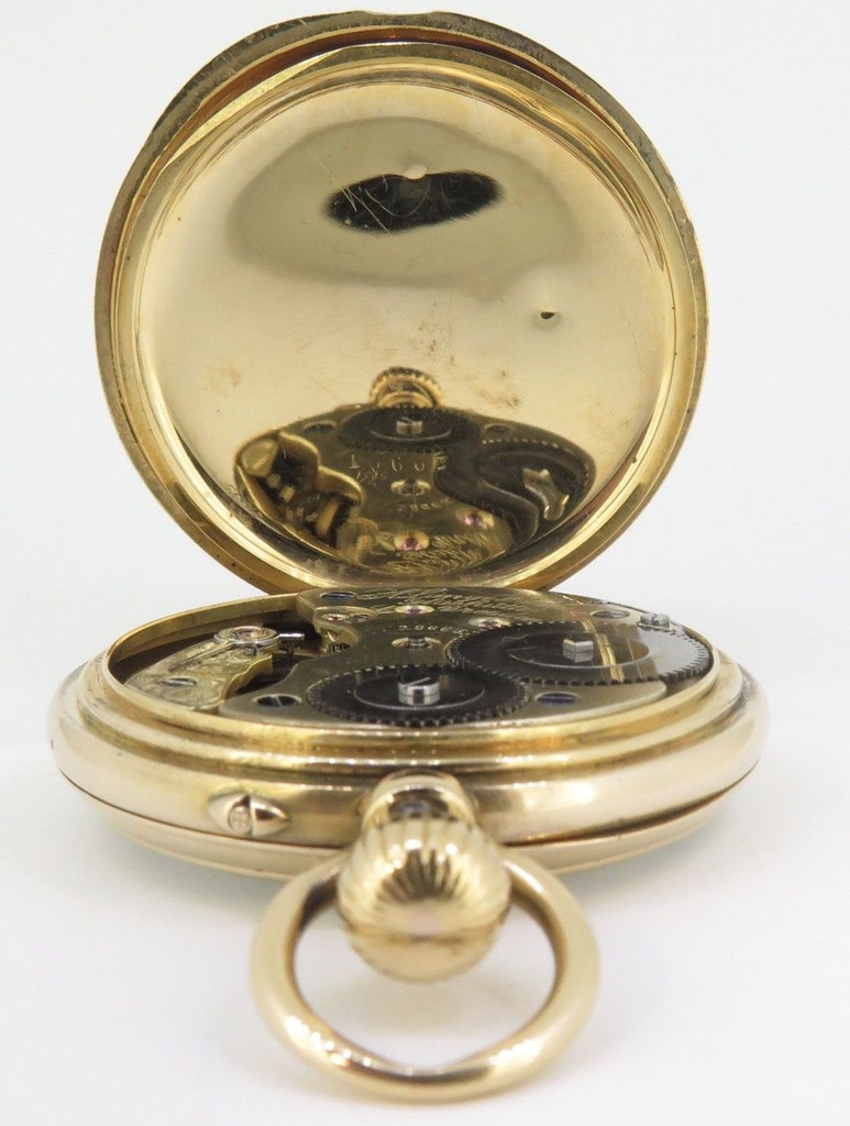 C.1880s A Lange Sohne Glashutte pocket 18K Gold 50mm Open Faced Pocket Watch