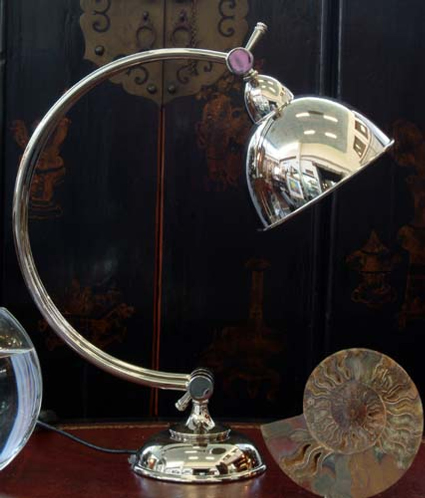 MODERN CHROME ARCHED TABLE LAMP