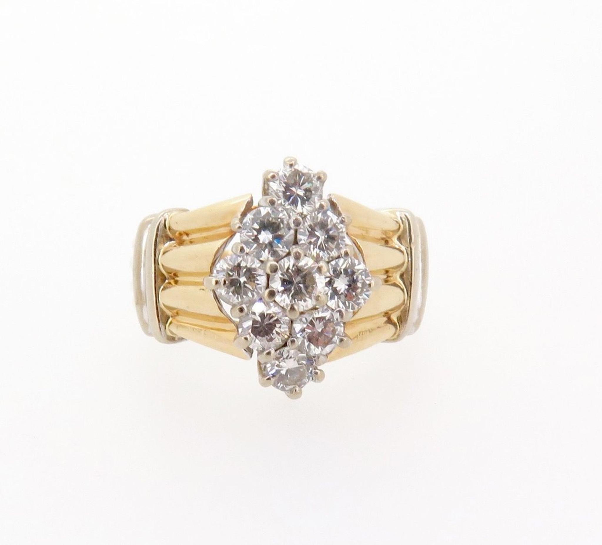 ct H VS-SI 14ct yellow gold ladies diamond dress ring val $5215