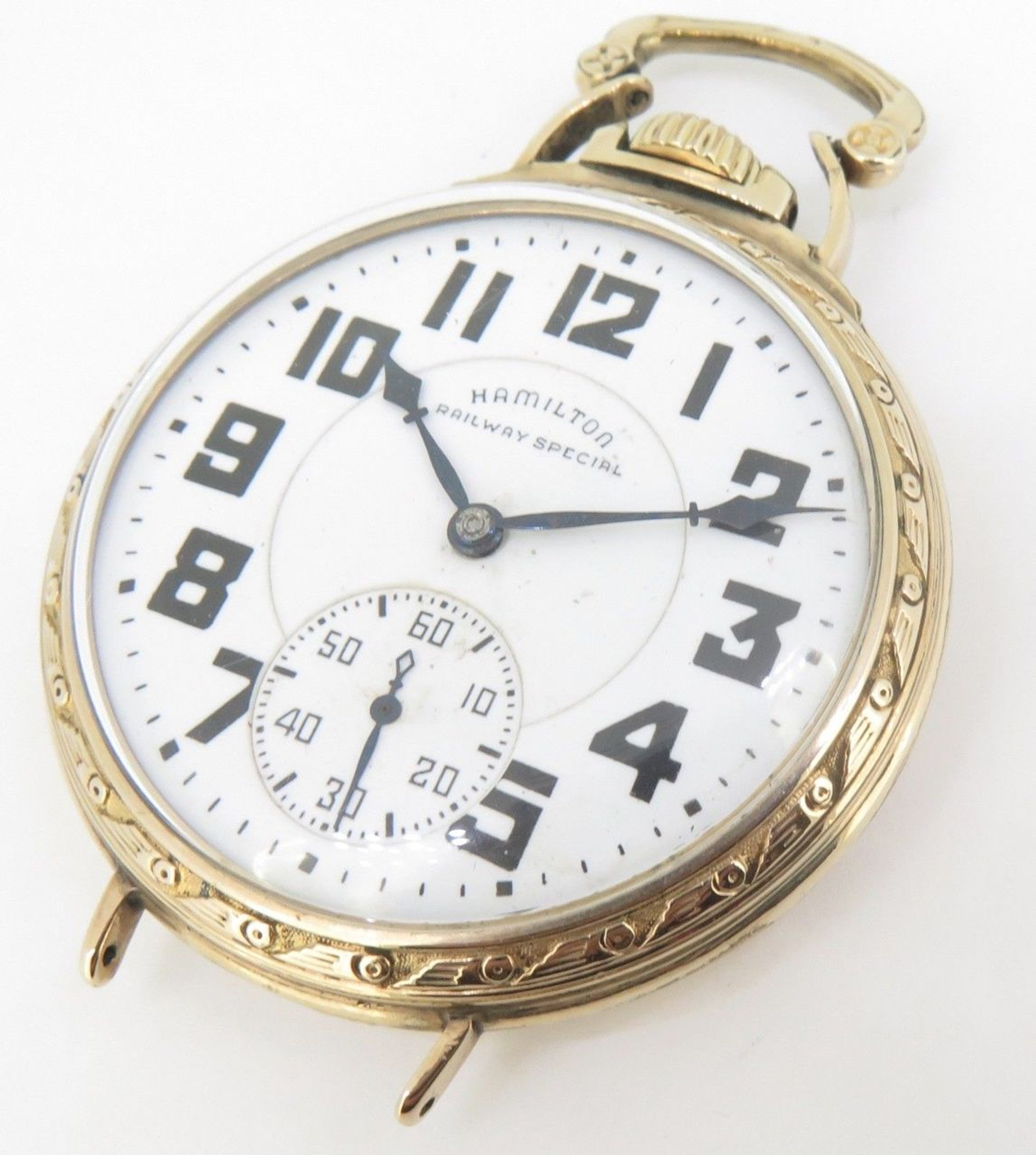 shop railroad filled pocket hamilton gold grade watch watches jewel vintage