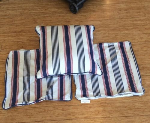 SET OF THREE MATCHING CUSHION COVERS, IN THE STYLE OF RALPH LAUREN