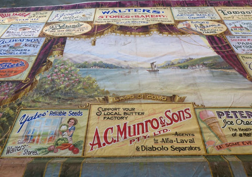 SUPER RARE / MUSEUM QUALITY 1935 HUGE PICTURE THEATRE HANDPAINTED CURTAIN