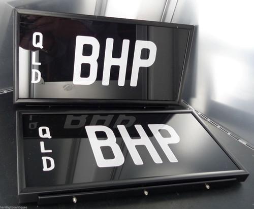 "RARE ""BHP"" BREAK HORSE POWER QUEENSLAND NUMBER PLATES"