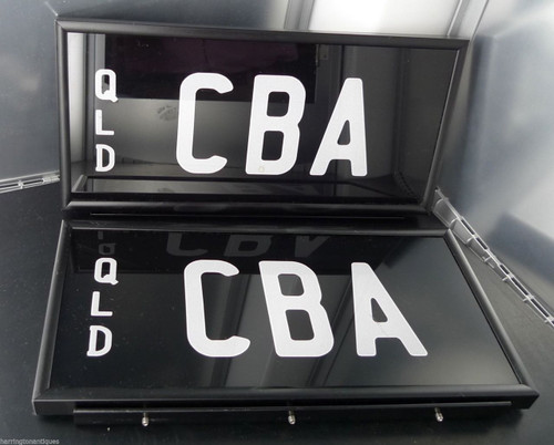 "RARE ""CBA"" QUEENSLAND NUMBER PLATES - COMMONWEALTH BANK OF AUSTRALIA"