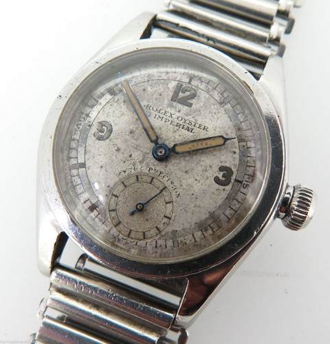 1936 ROLEX OYSTER IMPERIAL EXTRA PRECISION GENTS WATCH R.A.F ENGINEERING PRIZE