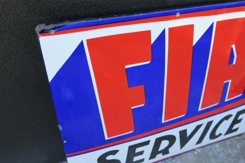 SCARCE c1950's / 60'S AMERICAN FIAT SERVICE GARAGE / DEALERS PORCELAIN  SIGN.