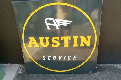 1971 AUSTIN SCARCE USA LARGE ADVERTISING SIGN. SUPERB CONDITION