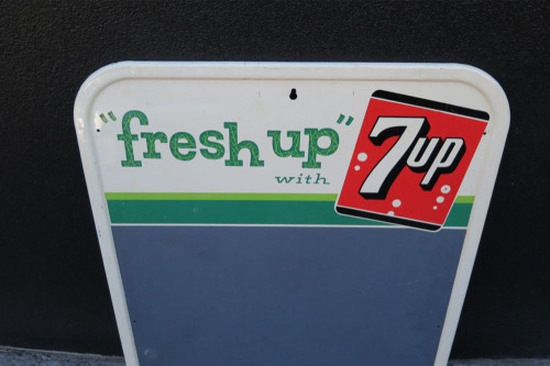 "SCARCE AMERICAN 1962 7 UP ""FRESH UP"" ADVERTISING SIGN."