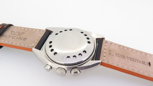 RARE 1970s VINTAGE VULCAIN CRICKET NAUTICAL STEEL GNTS ALARM WRIST WATCH