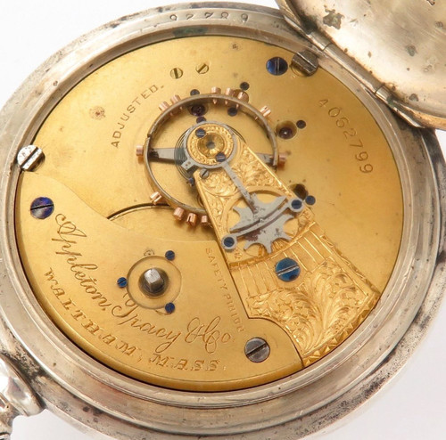 Rare c1889 Appleton Tracy & Co / Waltham 18s 15j  bay state imperial coin pocket watch