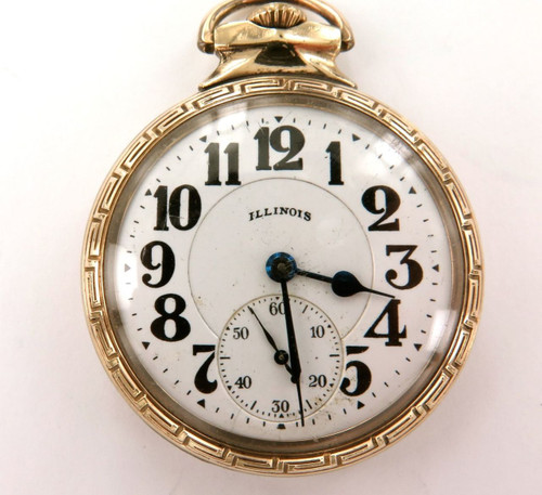 1927 Illinois Bunn Special 60h motor 16s 21j pocket watch with twin case backs