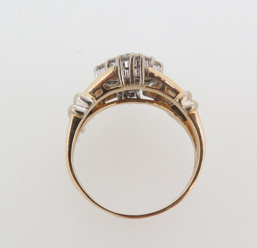 1.00ct H VS-SI 14ct yellow gold ladies diamond dress ring val $5215