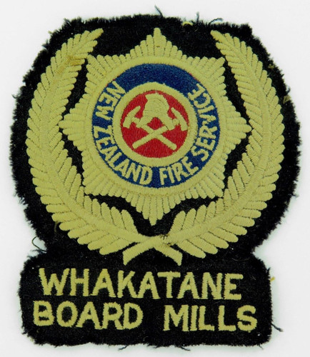 Super rare c1940's NZ New Zealand Fire Service Whakatane Board Mills huge board