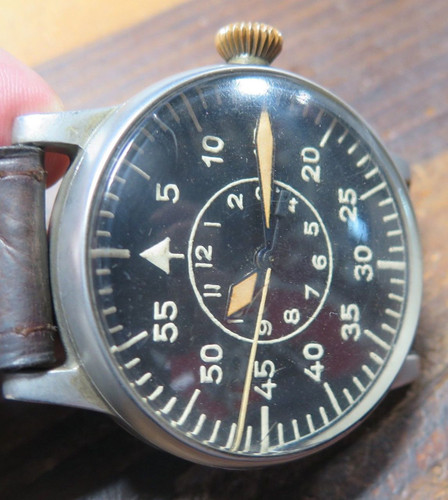 1943 A. Lange & Söhne B-Uhr world war II Luftwaffe pilot / aviator watch FL23883