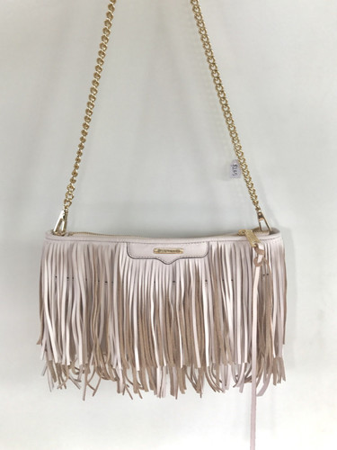 Rebecca Minkoff baby pink shoulder bag with tassels