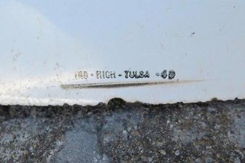 SUPER RARE 1949 MASSIVE 6FT AMERICAN SHAMROCK GAS COMPANY DOUBLE SIDED ENAMEL SIGN.