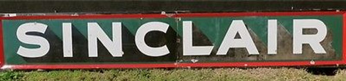 OLD VINTAGE SIGNS BUY SELL BRISBANE RARE HUGE 12FT VINTAGE AMERICAN SINCLAIR OIL  GAS ENAMEL SIGN.